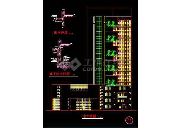 宾馆方案施工CAD平立剖面设计图-图2