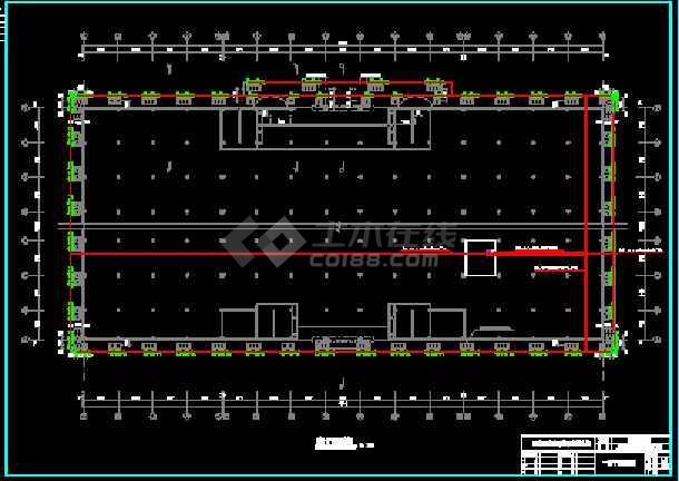 建筑大楼外墙亮化cad平立面设计图纸-图2