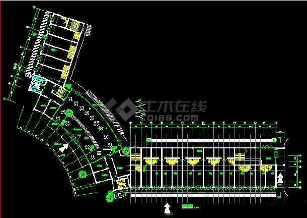 某宾馆客房CAD平面设计施工图纸-图2