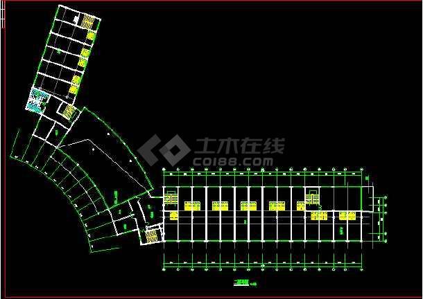 某宾馆客房CAD平面设计施工图纸-图3