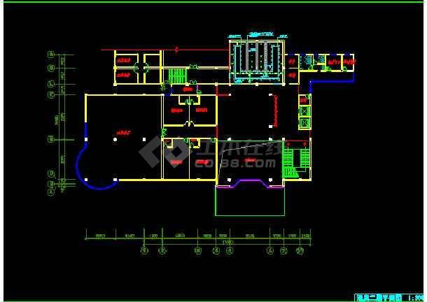 某市饭店局部空间装饰CAD施工设计图纸-图2