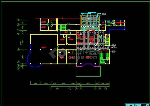 某市饭店局部空间装饰CAD施工设计图纸-图3