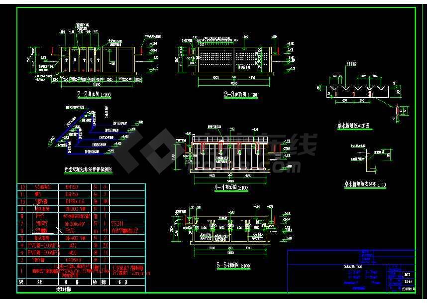 250吨-小时处理量平流沉淀池给排水设计图(节点详细)-图2