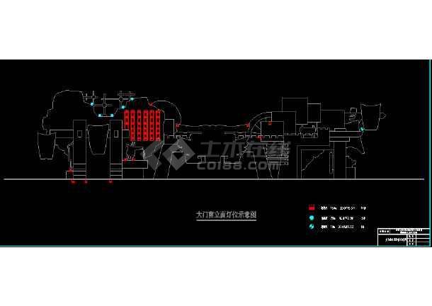 常州淹城古街夜景亮化工程cad设计图-图3