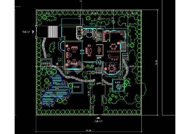某地区某别墅区15号别墅建施图带效果图-图1