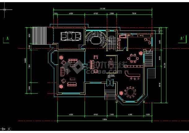 某地区某别墅区15号别墅建施图带效果图-图2