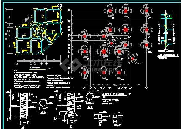 别墅建筑结构cad平面设计施工图-图1