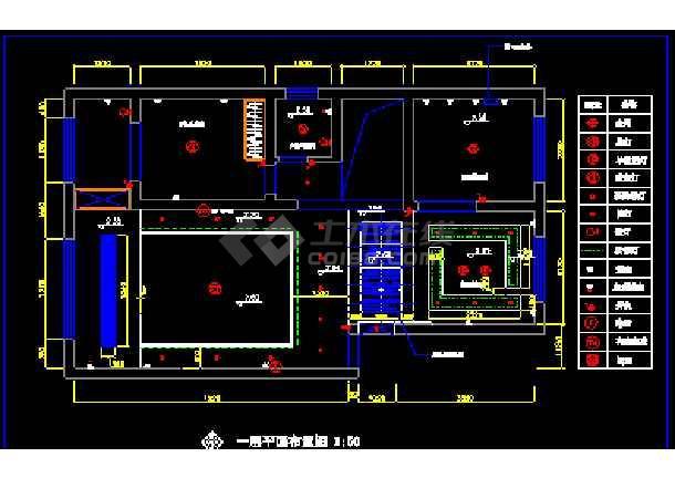 某小区复式住宅装饰CAD设计施工图纸-图1