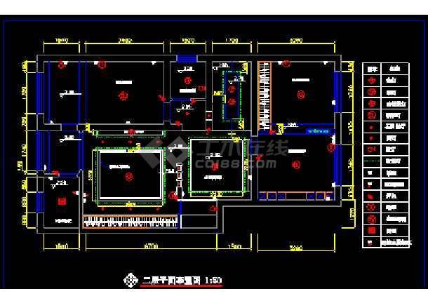 某小区复式住宅装饰CAD设计施工图纸-图2