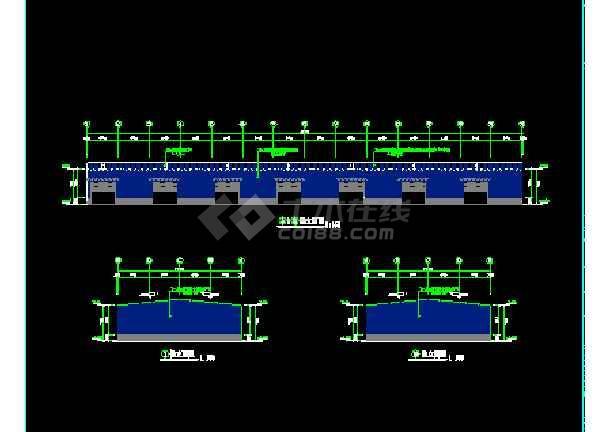 成都设计方案CAD施工平立面图纸-图3
