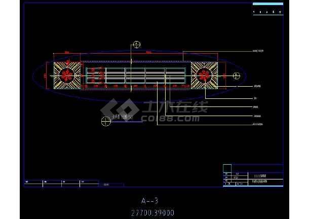 某桑拿洗浴中室内装修设计cad吊顶详图-图2