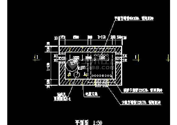 东莞某物流干道路照明cad设计工程图-图1