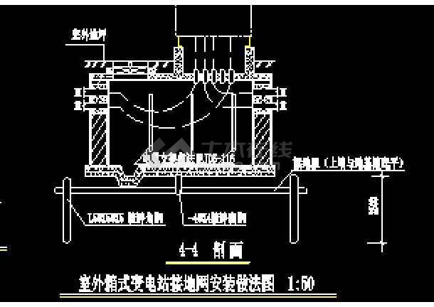 东莞某物流干道路照明cad设计工程图-图3