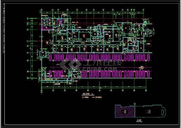 某地商业综合楼建筑设计cad施工方案图-图1