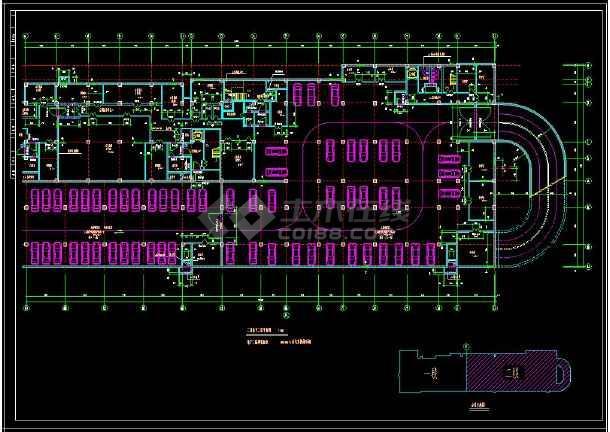 某地商业综合楼建筑设计cad施工方案图-图2