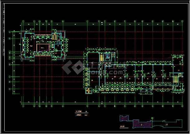 某地商业综合楼建筑设计cad施工方案图-图3