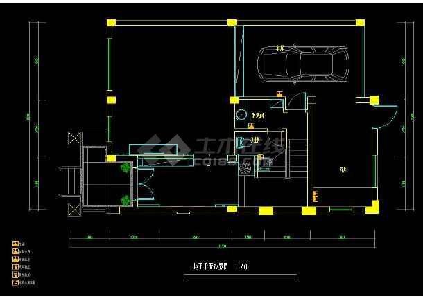 某经典联排别墅室内装修设计cad施工图-图1
