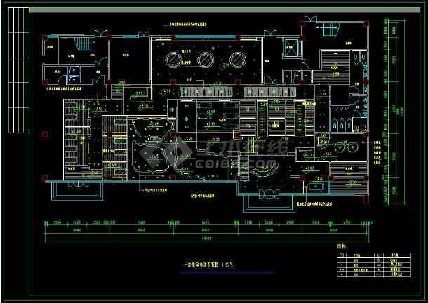 某地桑拿中心室内装修设计cad施工方案图-图2