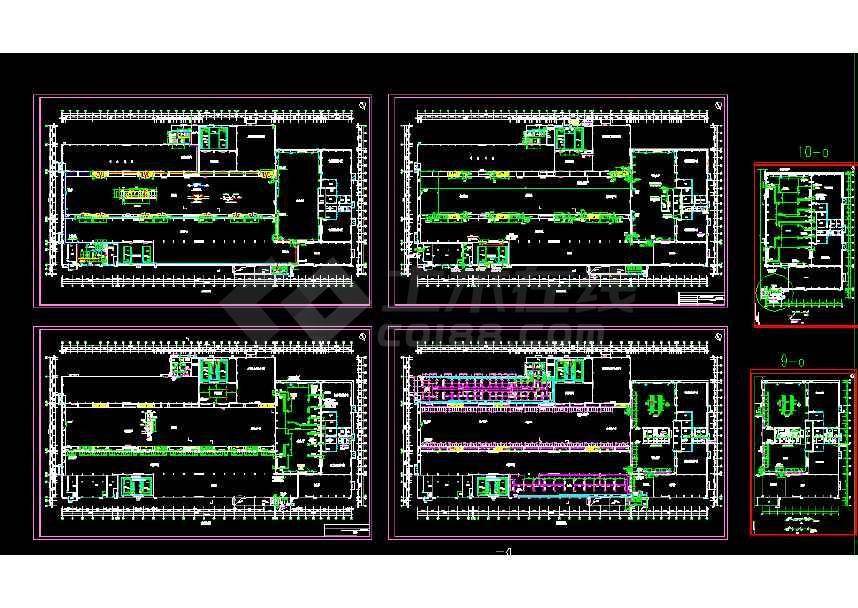 超高压变压器厂房通风空调图纸(全套)-图1