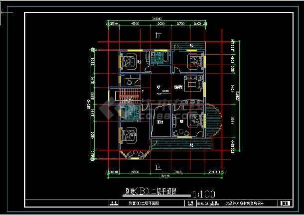 某地区风格别墅设计cad建筑图带效果图-图1