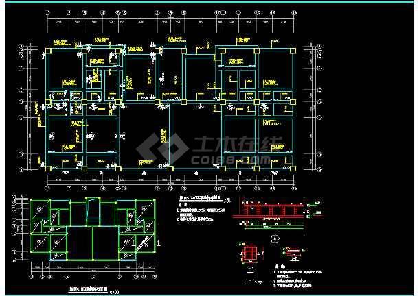 某别墅建筑结构cad平面设计施工图-图1