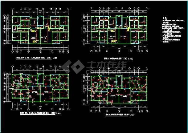 某别墅建筑结构cad平面设计施工图-图2