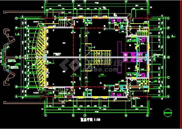 某小区联体别墅建筑CAD设计施工图纸-图1