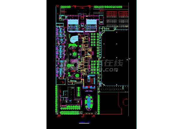 宾馆设计建筑CAD平立剖面施工图-图1
