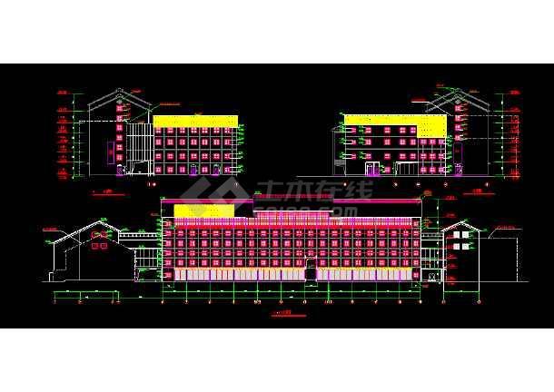 宾馆设计建筑CAD平立剖面施工图-图2
