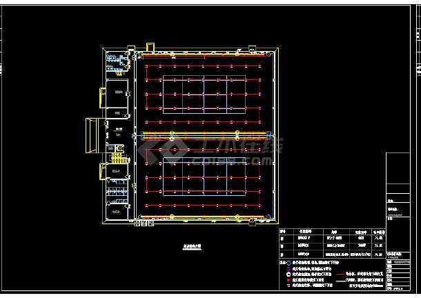 北京某大学体育馆布灯cad设计图-图1