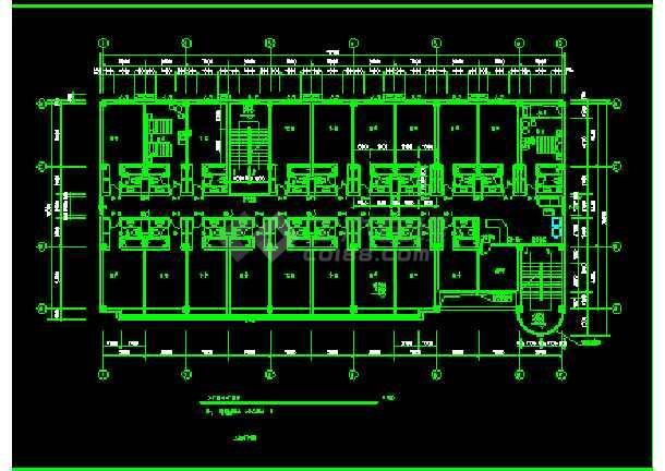 宾馆方案CAD平立剖面设计施工图-图1