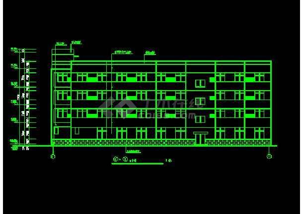 宾馆方案CAD平立剖面设计施工图-图2