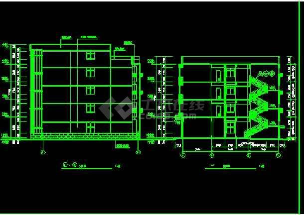 宾馆方案CAD平立剖面设计施工图-图3