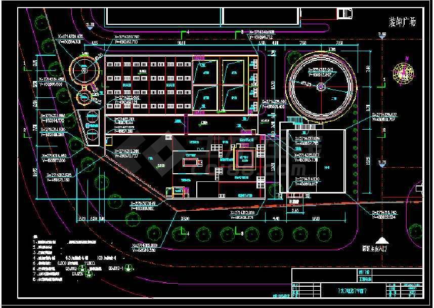 某地大型食品厂污水处理厂给排水cad图纸-图1