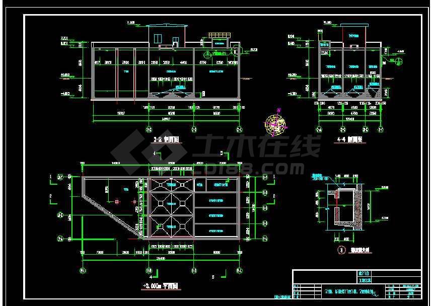 某地大型食品厂污水处理厂给排水cad图纸-图2