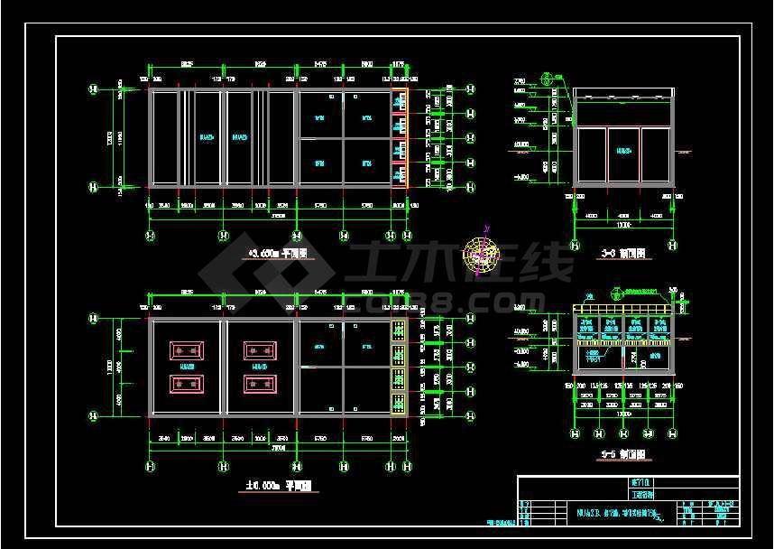 某地大型食品厂污水处理厂给排水cad图纸-图3