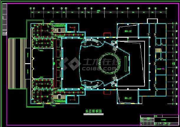 大型娱乐城照明设计cad平面施工图-图1