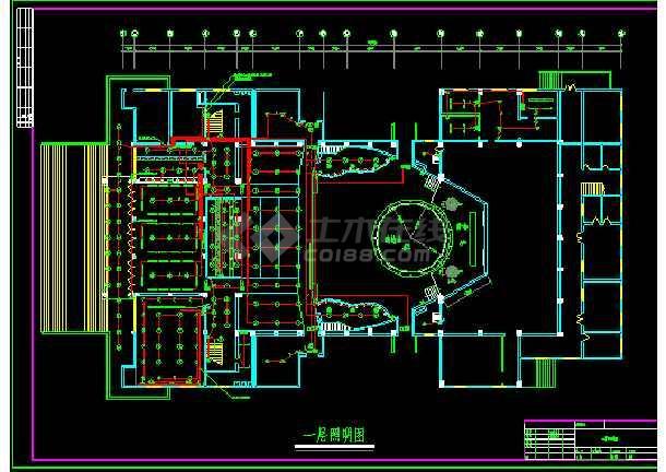 大型娱乐城照明设计cad平面施工图-图2