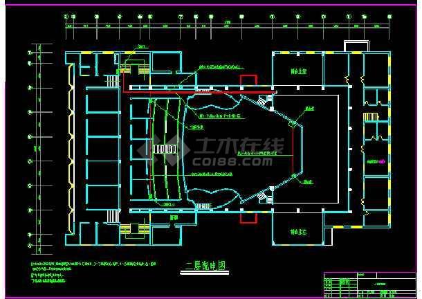 大型娱乐城照明设计cad平面施工图-图3