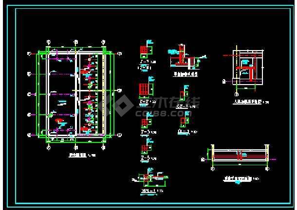 某工厂循环水池+泵房图纸(建筑+结构)-图3