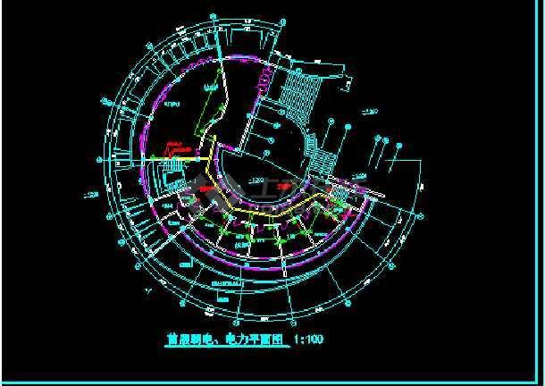 大型会所整体照明cad平面设计施工图-图3