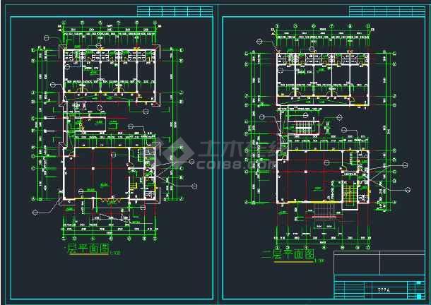 某商业综合楼建筑施工CAD图全套-图2