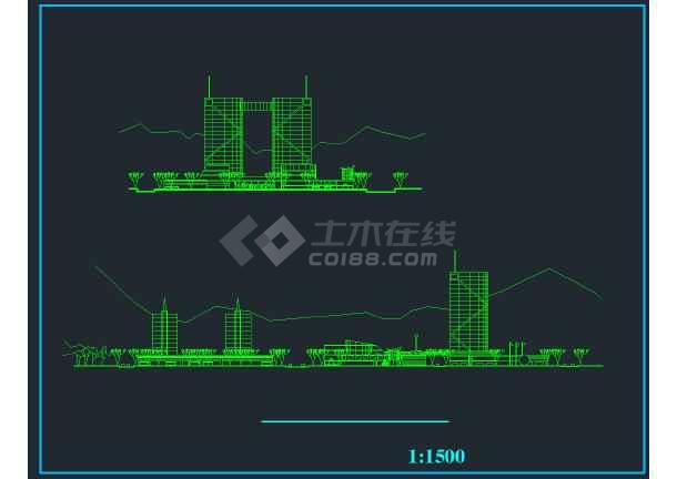重庆某商会活动中心规划设计方案图纸-图1