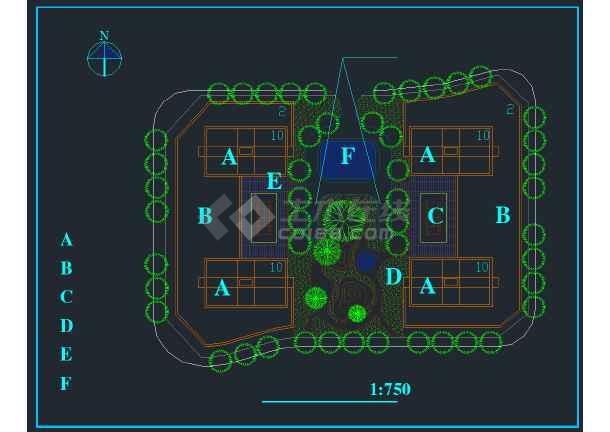 重庆某商会活动中心规划设计方案图纸-图3