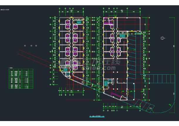 某高档大酒店建筑设计施工CAD图-图2