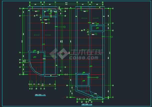 某高档大酒店建筑设计施工CAD图-图3
