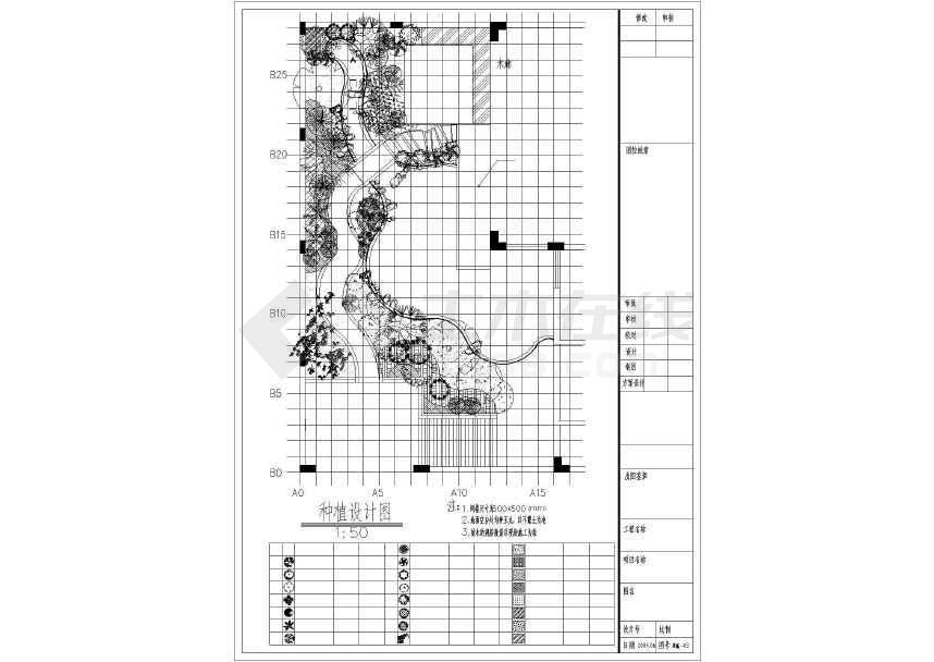 某地较受欢迎的园林绿化施工详图(共6张)-图3