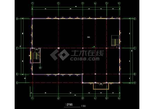 某地两层会所建筑方案设计cad施工图-图1