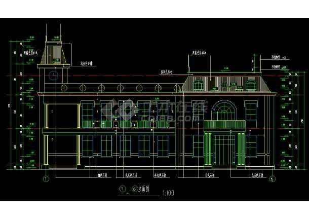 某地两层会所建筑方案设计cad施工图-图3