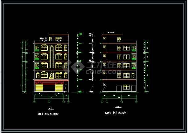 某地多层商住楼建筑方案设计cad施工图-图1